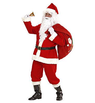 roter luxus Weihnachtsmann Nikolaus Santa Claus Kostüm Verkleidung - Weihnachten Santa Kostüm Set