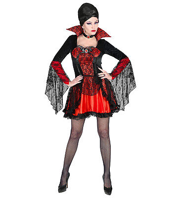 WIM 75759 Vampir Vampire Blutsauger  Fasching Halloween Damen (Weibliche Vampir Kostüm)