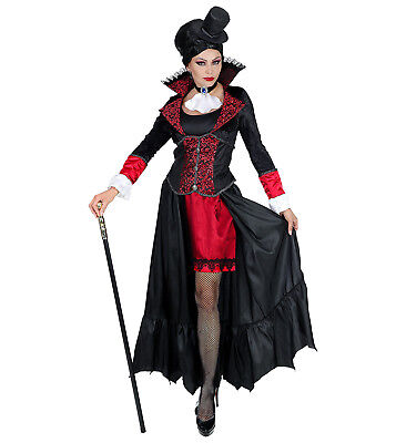 Womens Ladies Vampire Lady Adult Fancy Dress Halloween Dracula Costume Outfit ()