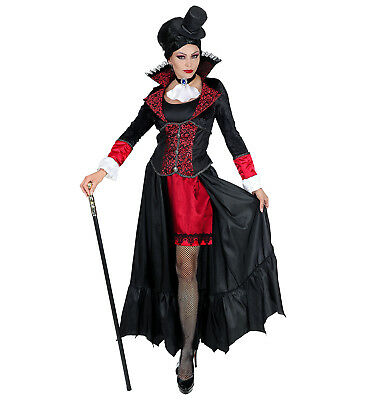 Womens Ladies Vampire Lady Adult Fancy Dress Halloween Dracula Costume (Dracula Lady Adult Kostüm)