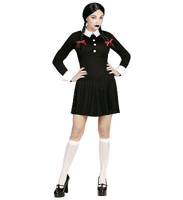 ANT 65651 Fasching Halloween Damen Kostüm Dark Girl Gothic Schulmädchen School