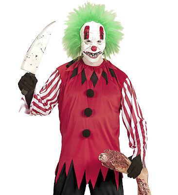 Horrorclown Clown Jacke Maske mit Perücke Kostüm Halloween Karnevall Größe XL