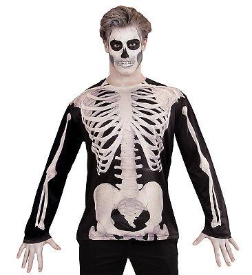 IAL 98695 3D Herren Kostüm Shirt Skelett Halloween Bones Knochen XL 52-54