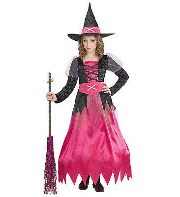 WIM 15250 Hexe Magierin Witch Zauberin Kinder Mädchen Kostüm 104-158 - Kinder Pink Hexe Kostüm