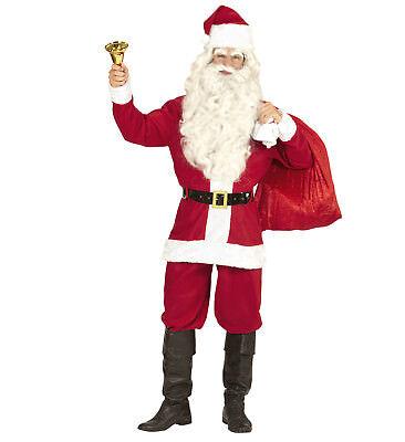 WEIHNACHTSMANN Nikolaus Santa Claus Anzug Kostüm 4-teilig Gr. M / - Santa Claus Anzug Kostüm