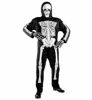 Skelett Kostüm, Tod, Geist Overall + Maske, Kinder 128-140-158 Halloween
