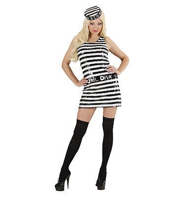 WIM 94771 Fasching Damen Kostüm Gefangene Häftling Insasse - Gefängnis Kostüme