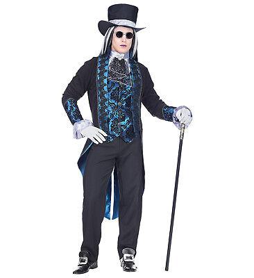 WIM 08091 Vampir Viktorianischer Vampir Fasching Halloween Herren Kostüm blau