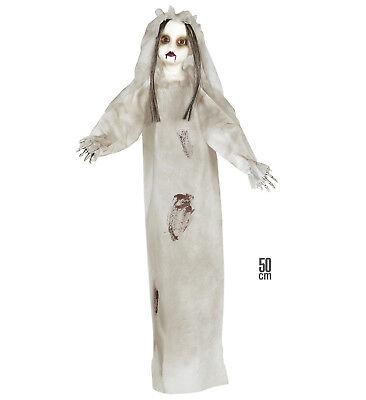 KILLER PUPPE 50 CM FIGUR HALLOWEEN DEKO DEKORATION HORROR GRUSEL LEICHE GEIST (Leiche Halloween Dekoration)