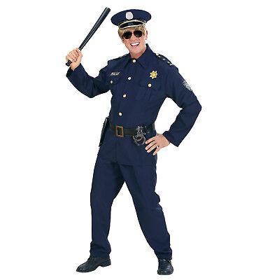 WIM 73211 Polizist Polizei Police Cop Gesetzeshüter FBI Karneval Herren Kostüm