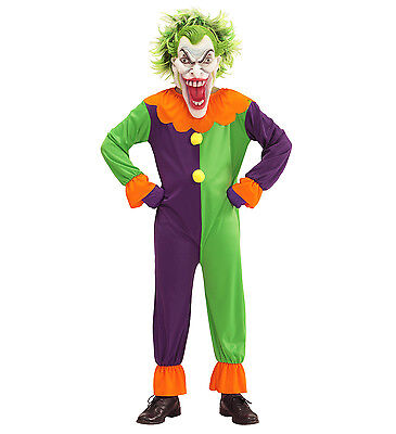 WIM 07316 Kinder Jungen Kostüm Clown Horror Evil Joker Narr Killer Clown