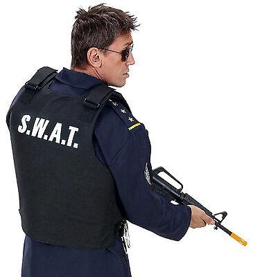 Herren Polizei SWAT Kugelsicher Weste & Swat Kappe Hut Kostüm FBI Kostüm Outfit