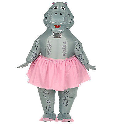 WIM 75513 Aufblasbar Hippo Ballerina Nilpferd Damen Herren Unisex Kostüm