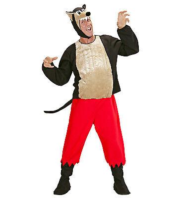 WIM 50951 Fasching Erwachsene Unisex Kostüm Wolf Hund Wolfkostüm S M L (Hund Wolf Kostüme)