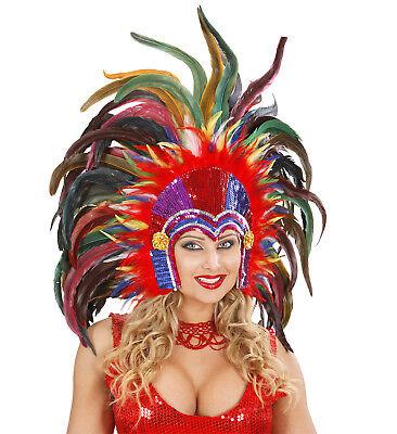 Kopfbedeckung Gefieder Tropicana Karnevalskostüme Brasilianisch Ps 22784