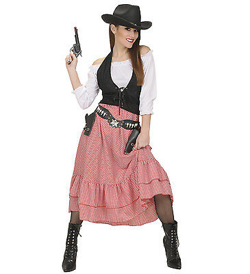 ANT 58451 Western Lady Cowgirl Country Rodeo Cow Fasching Karneval Damen Kostüm  ()