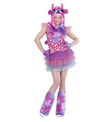 alloween Damen Kostüm Monster Girl Pink Plüsch S M  (Halloween Damen Pink)