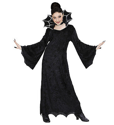 ANT 41116 Karneval Halloween Kinder Mädchen Kostüm Hexe Spiderella Spinne black