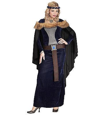 WIM 01461 Wikinger Viking Königin Mittelalter Prinzessin Damen Karneval Kostüm