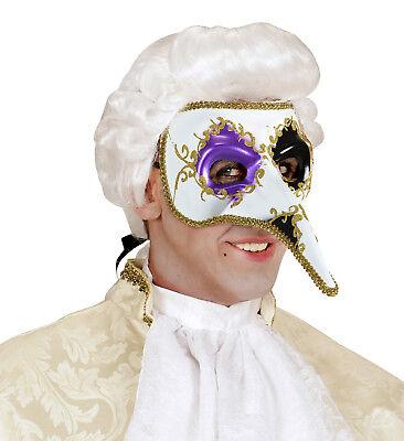 Wim 05917 Venezianische Maske Lange Nase Venedig Ball Karneval Zubehör bunt ()