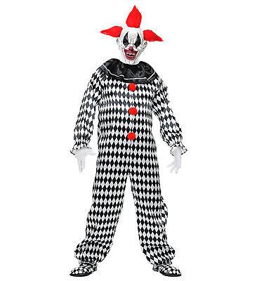 er Circus Clown Horror Fasching Halloween Herren Kostüm  (Circus Halloween-kostüm)