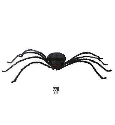 Riesen Spinne formbar 220 cm Dekospinne Halloween Deko Grusel Gruselspinne neu ()
