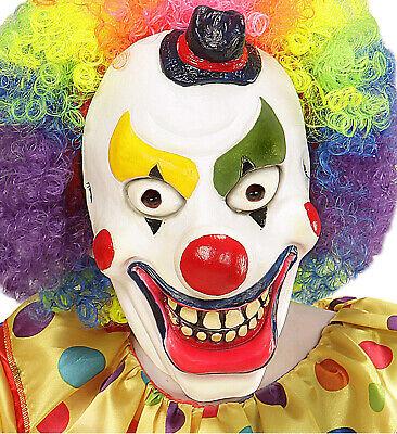 Halbmaske Clown Schaumlatex für Kinder Kinderclownsmaske Clownsmaske Maske neu