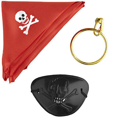Set da Pirata Accessori Costume Carnevale Pirati PS 10727