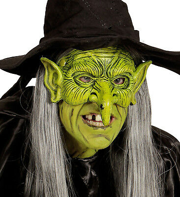 IAL 05391 Fasching Karneval Halloween Hexe Maske Kinnlose Hexen Halbmaske Witch ()
