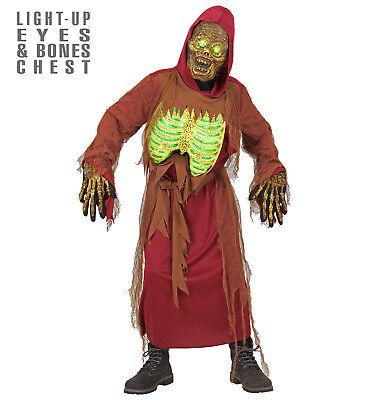 ANT 07926 Kinder Kostüm Zombie mit Licht Skelett Geist Halloween leuchtend ()