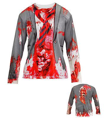 IAL 98707 Herren Kostüm Shirt Zombie Mann Zombiemann Untot blutverschmiert - Untoten Kostüm