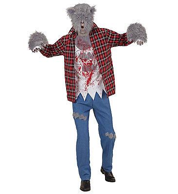 WIM 08801 Fasching Karneval Halloween Herren Kostüm Wolf Werwolf Werewolf S-XL