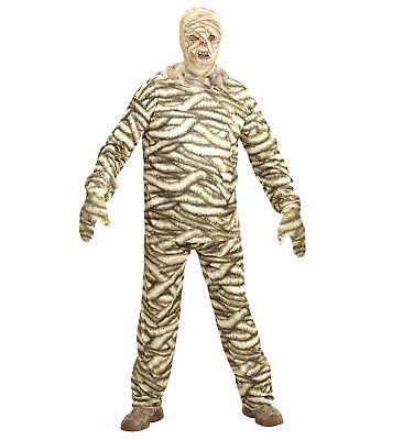 Mummy Mumie Jacke Hose Maske Kostüm Set Verkleidung Karneval Halloween Größe XL ()