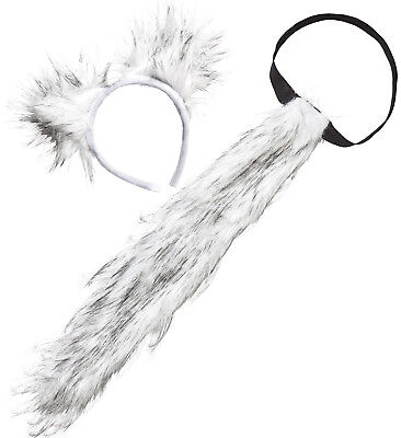 Widmann S.r.l. Werwolf Kostüm-Set Schwanz und Ohren Wolfsohren Wolf 121161313 (Werwolf Kostüm Ohren)