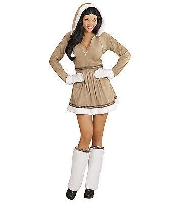 arneval Damen Kostüm Eskimo Girl Schnee Frau Eis Arktis (Eskimo Frau Kostüm)