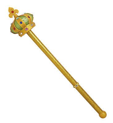 WIM 9090 König Zepter Königszepter Krone Stab Spielzeug Karneval Kostüm Zubehör  (König Zepter Kostüm)