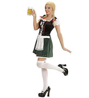 Oktober Fest Dress (BAVARIAN GIRL FANCY DRESS COSTUME GERMAN BARMAID BEER-FEST OKTOBERFEST WOMAN'S)