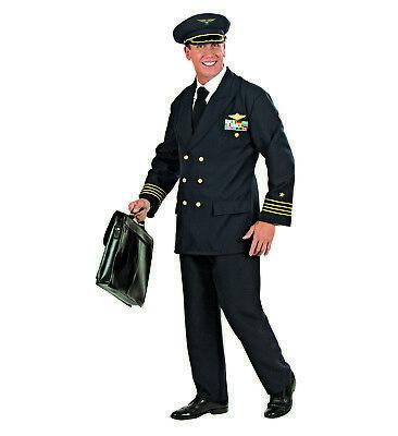 S5773 Kostüm Pilot Anzug Flugbegleiter Motto Pilotenkostüm Fliegerkostüm S - (Pilot Anzug Kostüme)