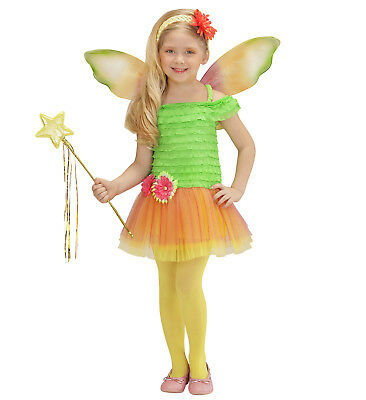ANT 0231F Kinder Kostüm Mädchen Fee Flower Fairy Elfe Pixie Grün Magic 110 116