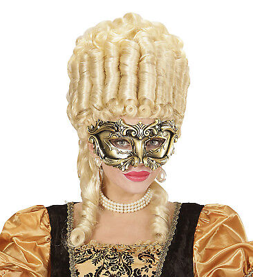 Masque Costumes (Venetian Mask Masquerade Ball Men Ladies Bronze Gold Masque Costume Fancy)