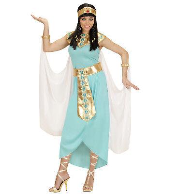 ägyptische Königin Kleopatra Kleid Armbänder Stirnband Umhang Kostüm Größe S