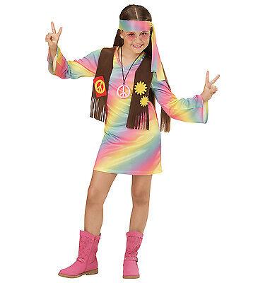 WIM 73356 Hippie Girl Frau Flower Power 60er 70er Karneval Kinder Mädchen (Frau Hippie Kostüme)