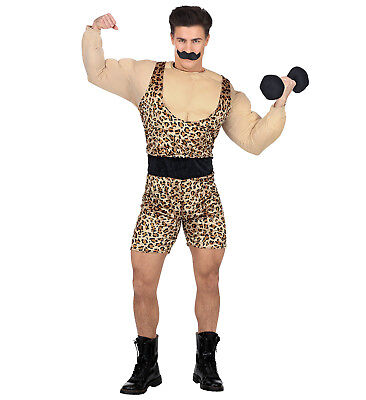 Mens Male Strong Man Circus Adult Fancy Dress Costume Outfit M To XL