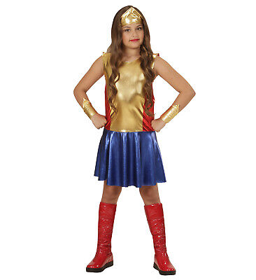 WIM 01136 Wonder Girl Superheldin Hero Super Woman Comic Kinder Mädchen - Comic Heldin Wonder Woman Kostüm