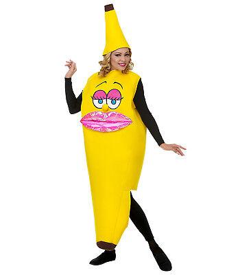 WIM 68584 Banane Bananenanzug Party Obst Fasching Miss Banana Damen Kostüm - Damen Bananen Kostüm