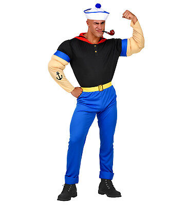 WIM 02561 Starker Seemann Matrose Marine Held Hero Comic Herren Karneval Kostüm - Starker Mann Kostüm