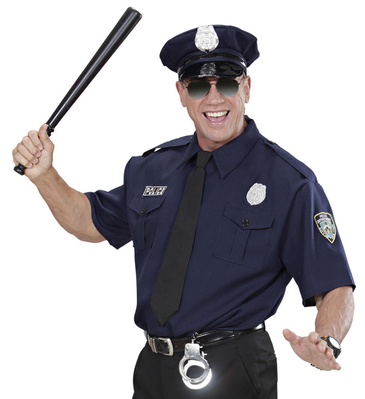 Polizist Herren Kostüm - Polizei Uniform Hemd&Hut&Krawatte Karneval Fasching,(K)