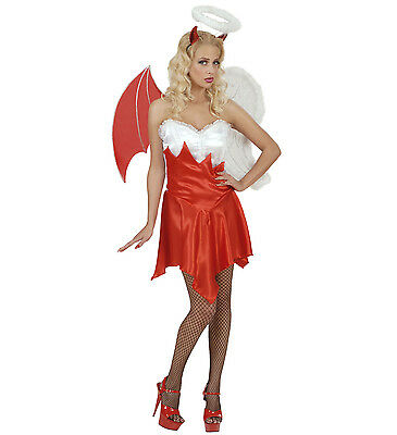 Damen Teufel Halloween-kostüm (WIM 56081 Fasching Karneval Halloween Damen KostümTeufel Paradies und Hölle  )