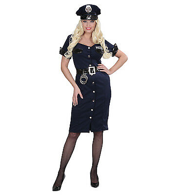 POLICE OFFICER WOMAN GIRL COP FANCY DRESS COSTUME NEW YORK NYPD ()