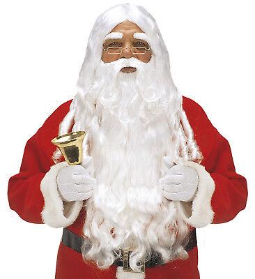 Weihnachtsmann Nikolaus PERÜCKE SANTA CLAUS mit Bart und Augenbrauen